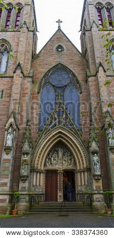 Inverness , Scotland - May 22 , 2019 : Inverness Cathedral, Also Known As The Cathedral Church Of Sa