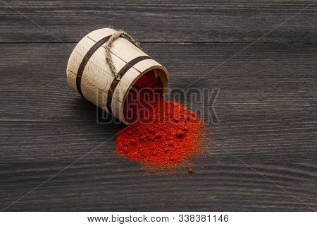 Magyar (hungarian) Brilliant Red Sweet Paprika Powder. Traditional Ingredient For Cooking Healthy Fo