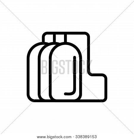 Reservoir With Fuel Icon Vector. Thin Line Sign. Isolated Contour Symbol Illustration