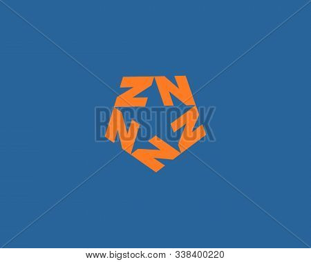 Vector Graphic Logo With Stylized Star With Letter N Z