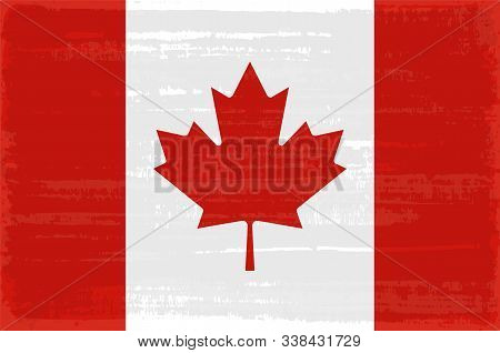 Canadian National Flag Isolated Vector Illustration. Travel Map Design Graphic Element. World County