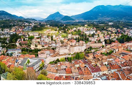 Trento Aerial Panoramic View. Trento Is A City On The Adige River In Trentino Alto Adige Sudtirol In