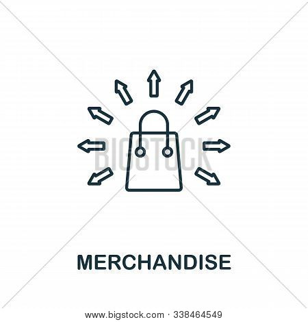 Merchandise Line Icon. Thin Style Element From Business Administration Collection. Simple Merchandis