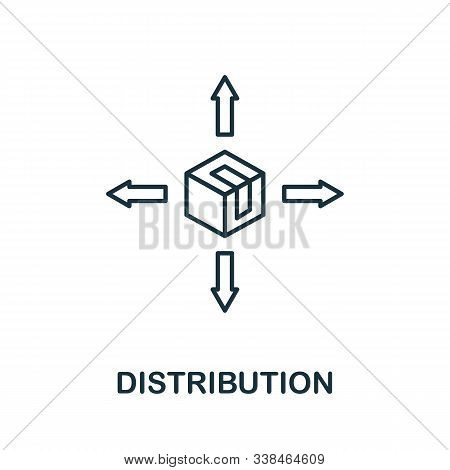 Distribution Line Icon. Thin Style Element From Business Administration Collection. Simple Distribut