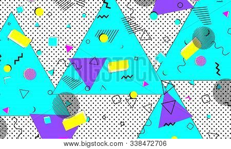 90s Texture. Childish Flyer. Yellow Drawing. Bright Background. Violet Stripes Illustration. Ultrama