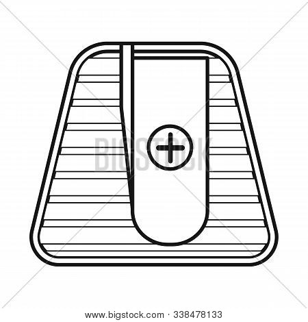 Vector Illustration Of Sharpener And Sharpen Symbol. Graphic Of Sharpener And Green Stock Vector Ill