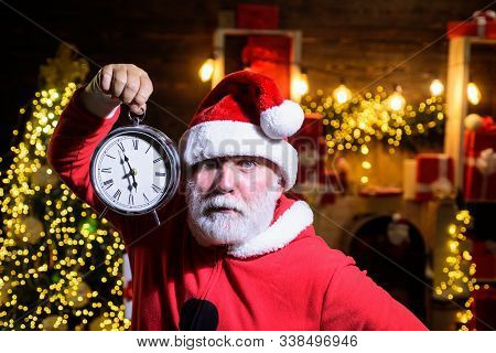 New Year Party. New Year Clock. Christmas Clock. Winter Holidays. Time To Celebrate. Merry Christmas