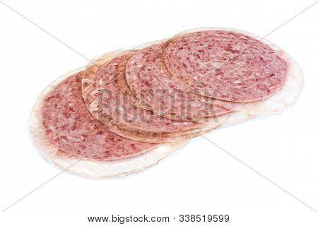 Luncheon Meat Isolated On White Background Cut Out