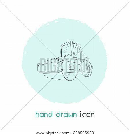 Steamroller Icon Line Element. Illustration Of Steamroller Icon Line Isolated On Clean Background Fo