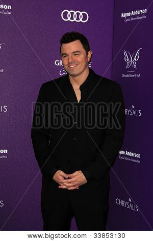 LOS ANGELES - JUN 9:  Seth MacFarlane arriving at 11th Annual Chrysalis Butterfly Ball at Private Residence on June 9, 2012 in Los Angeles, CA