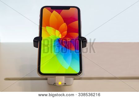 Saint-petersburg, Russia - December 3, 2019: New Gold, Pink Iphone Xr Smartphone Goes On Sale In App