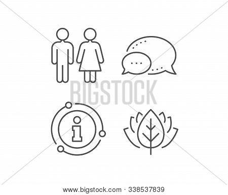Restroom Line Icon. Chat Bubble, Info Sign Elements. Wc Toilet Sign. Public Lavatory Symbol. Linear