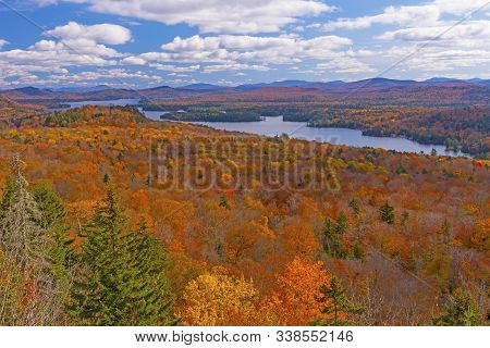Fall Colors In The Adirondacks From Bald Mountain New Old Forge New York