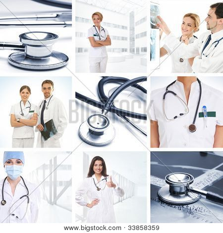 Collage made of some medical elements