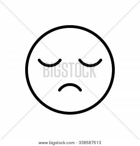Black Line Icon For Sleepy Sluggish Slack Lingering Lethargic