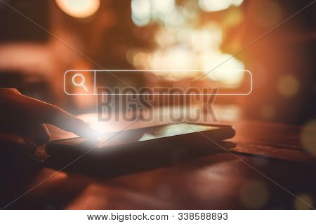 People Hand Using Mobile Phone Or Smartphone Searching For Information In Internet Online Society We