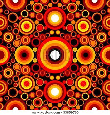 seamless editable circle retro pattern