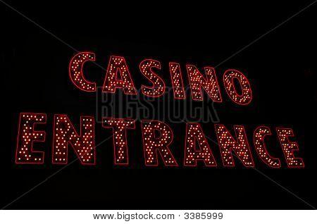 Casino Entrance Neon Sign, Las Vegas