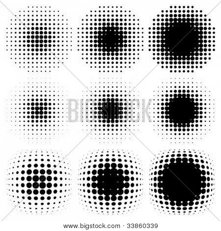 spotted halftone vector
