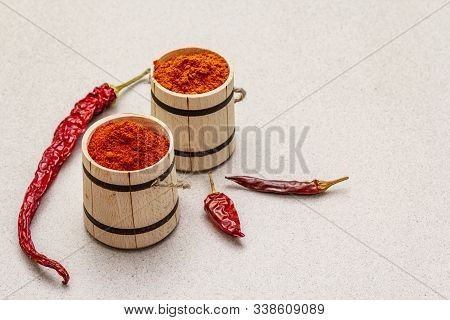 Magyar (hungarian) Red Sweet And Hot Paprika Powder. Traditional Seasoning For Cooking National Food