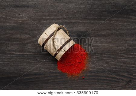 Magyar (hungarian) Brilliant Red Sweet Paprika Powder. Traditional Seasoning For Cooking National Fo