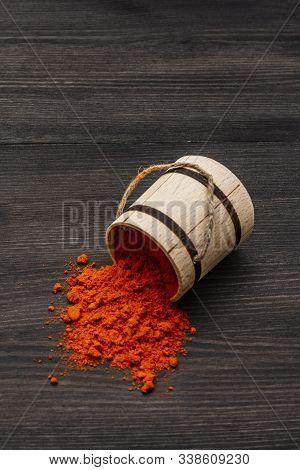 Magyar (hungarian) Brilliant Red Hot Paprika Powder. Traditional Seasoning For Cooking National Food