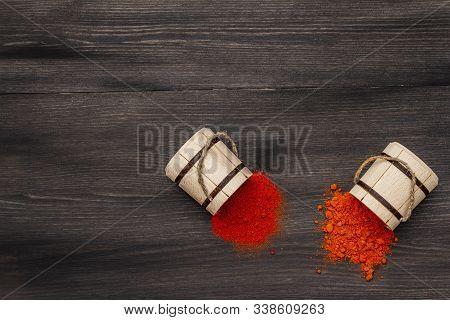 Magyar (hungarian) Brilliant Red Sweet And Hot Paprika Powder. Traditional Seasoning For Cooking Nat