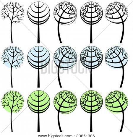 conventionalized vector tree