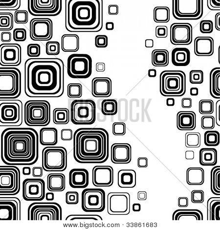 Seamless black-and-white retro pattern