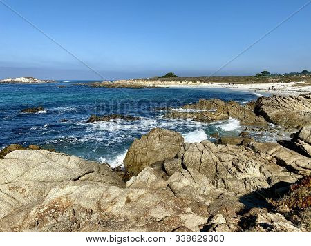 Beach Along The 17-mile Drive In Monterey, Ca