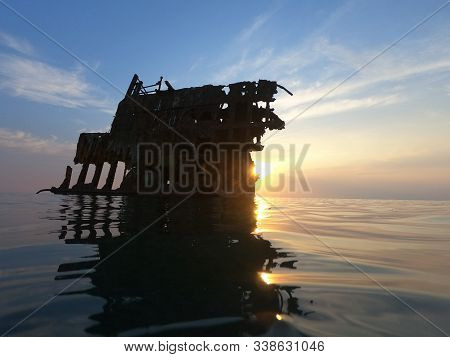 The Wrecked Ship, Baltray Shipwrack, Shipwrecked Off The Coast Of Cyprus, An Shipwreck Or Abandoned