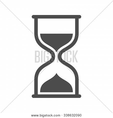 Hourglass Vector Icon Isolated On White Background. Hourglass Flat Icon For Web, Mobile And User Int