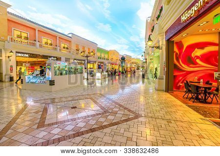 Doha, Qatar - February 21, 2019: Luxury Brands, Expensive Stores And Exclusive Shops In Doha Shoppin
