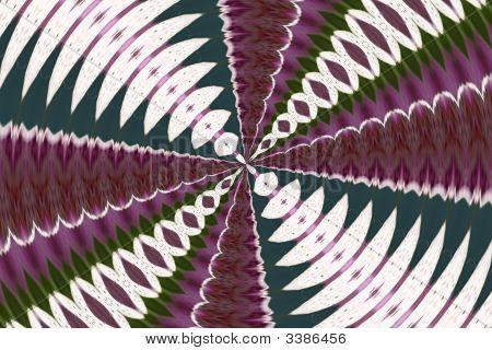 Kaleidoscope Teal Purple Green
