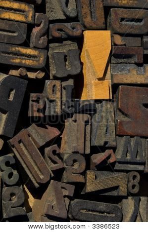 Collection Of Wood Type Blocks