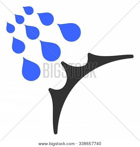 Water Proof Raster Icon. Flat Water Proof Pictogram Is Isolated On A White Background.