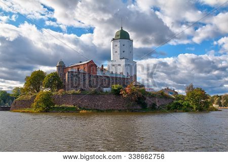 Beautiful View Of The Vyborg Castle In Sunlight In Hdr Processing, Vyborg, Leningrad Oblast, Russia