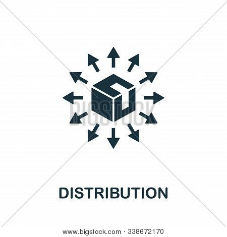 Distribution Icon. Creative Element From Business Administration Collection. Simple Distribution Ico