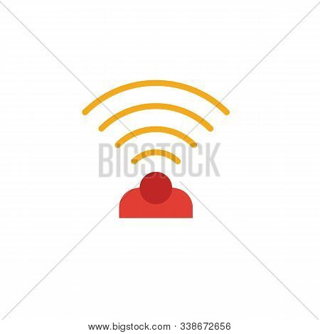 Wireless Sensor Icon. Simple Element From Smart Home Icons Collection. Creative Wireless Sensor Icon