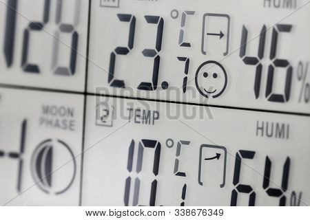 Device Showing Both Indoor And Outdoor Temperature And Humidity