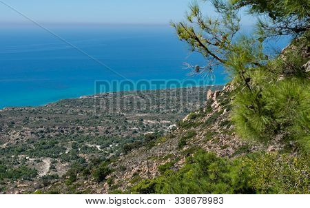 Mediterranean Coastal Landscape In The South Of The Island Kos Greece