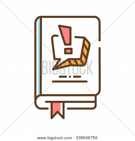 Comics And Manga Color Line Icon. A Medium Used To Express Ideas Through Images, Often Combined With