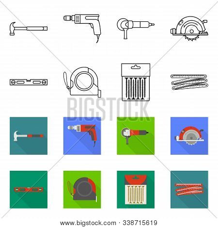 Vector Design Of Household And Repair Logo. Collection Of Household And Overhaul Vector Icon For Sto