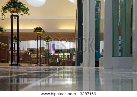 Shopping Mall - Bright And Clean But Empty.