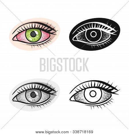 Isolated Object Of Eye And Cataract Icon. Web Element Of Eye And Eyesight Stock Symbol For Web.
