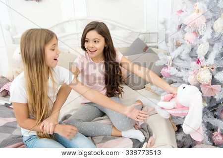 Toys Shop. Cute Soft Toys. Generosity And Greediness. Teach Sister Sharing Toys. Greedy Sisters. Kid