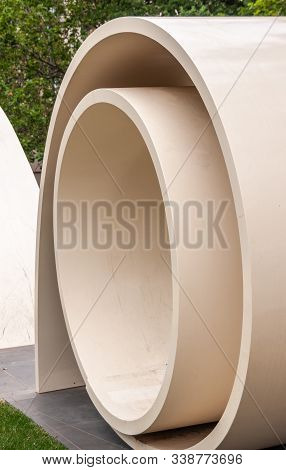 Melbourne, Australia - November 16, 2009: Detail Of Circles Of The Great Petition Statue Of Yellow S
