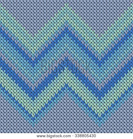 Modern Zig Zal Lines Christmas Knit Geometric Vector Seamless. Pullover Knitwear Structure Imitation