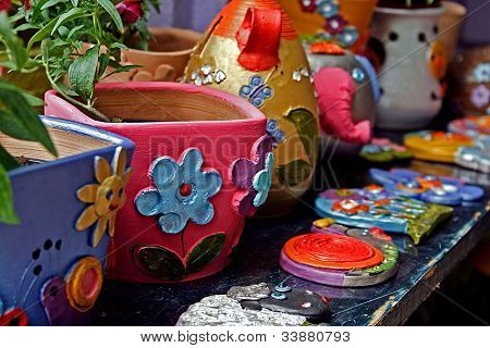 Clay Forms Painted