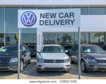 Volkswagen Group Dealership And Service In San Diego, California, Usa. Volkswagen, Shortened To Vw,